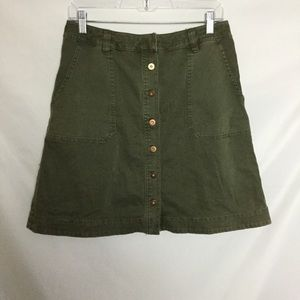 Pilcro and the letterpress Chino Skirt